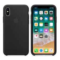 Чехол силиконовый Apple Silicon Case для iPhone X / iPhone 10 Черный