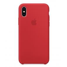 Чехол силиконовый Apple Silicon Case для iPhone X / iPhone 10 Красный
