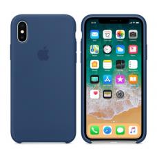 Чехол силиконовый Apple Silicon Case для iPhone X / iPhone 10 Синий