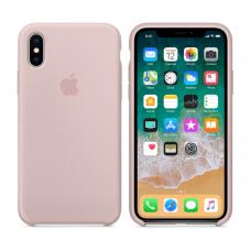 Чехол силиконовый Apple Silicon Case для iPhone X / iPhone 10 Светло-розовый