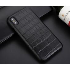 Чехол из эко-кожи под крокодила Puloka Polo для iPhone Xs Max Черный