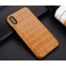 Чехол из эко-кожи под крокодила Puloka Polo для iPhone Xs Max Молочный