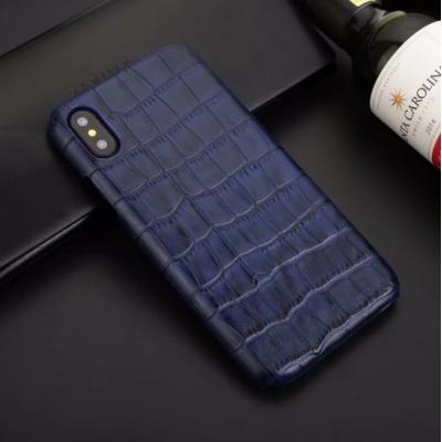Чехол из эко-кожи под крокодила Puloka Polo для iPhone Xs Max Синий