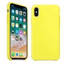 Чехол силиконовый Apple Silicon Case для iPhone XR Желтый