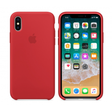 Чехол силиконовый Apple Silicon Case для iPhone Xs Красный