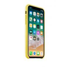 Чехол кожаный Leather Case для iPhone Xs Max Желтый