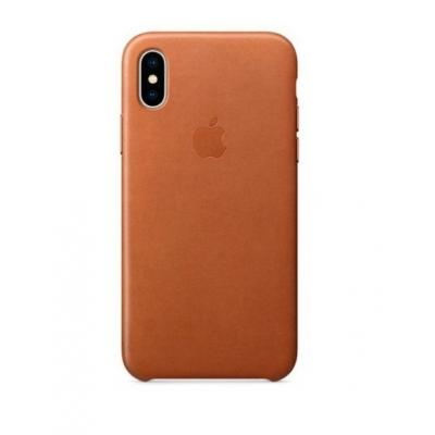 Чехол кожаный Leather Case для iPhone Xs Max Коричневый
