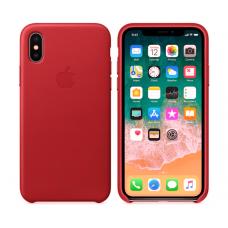 Чехол кожаный Leather Case для iPhone Xs Max Красный
