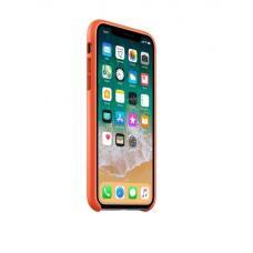 Чехол кожаный Leather Case для iPhone Xs Max Оранжевый