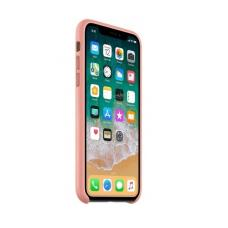 Чехол кожаный Leather Case для iPhone Xs Max Розовый