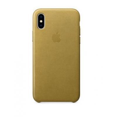 Чехол кожаный Leather Case для iPhone Xs Max Золотой