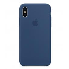 Чехол силиконовый Apple Silicon Case для iPhone Xs Max Светло-синий