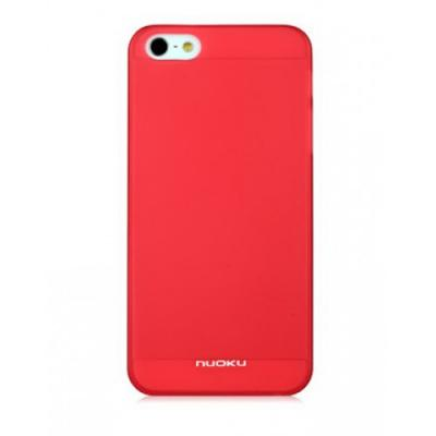 Тонкий чехол Nuoku для iPhone 5/5S Fresh Series Soft-touch Cover Красный