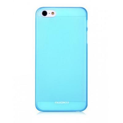 Тонкий чехол Nuoku для iPhone 5/5S Fresh Series Soft-touch Cover Голубой