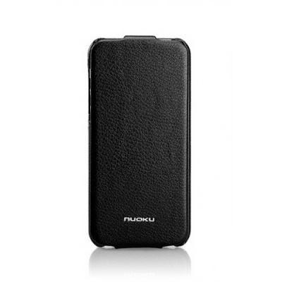 Кожаный чехол Nuoku для iPhone 5/5S Elite Series Exclusive Leather Case Черный