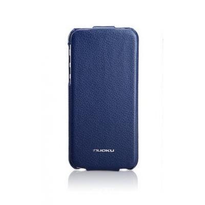 Кожаный чехол Nuoku для iPhone 5/5S Elite Series Exclusive Leather Case Синий