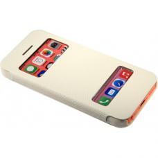 Чехол книжка для iPhone 5/5с/5s flip cover белый