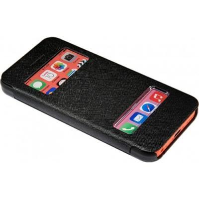 Чехол книжка для iPhone 5/5с/5s flip cover чёрный