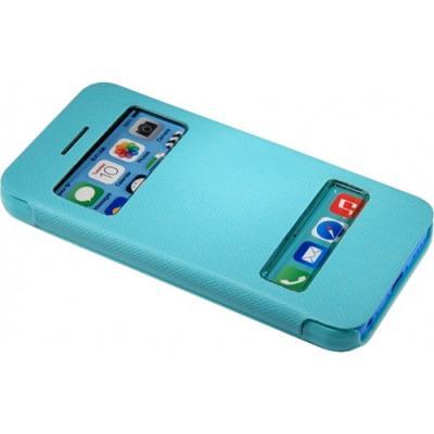 Чехол книжка для iPhone 5/5с/5s flip cover бирюзовый