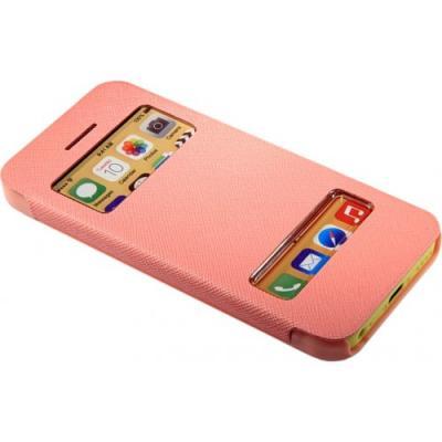 Чехол книжка для iPhone 5/5с/5s flip cover розовый