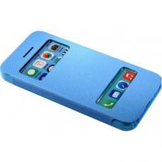 Чехол книжка для iPhone 5/5с/5s flip cover синий