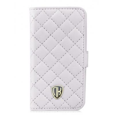 Кожаный чехол Nuoku для iPhone 4/4S Chic Luxury Lambskin Case Белый