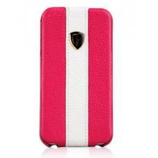 Кожаный чехол Nuoku для iPhone 4/4S Rock Luxury Leather Case Малиновый