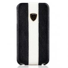 Кожаный чехол Nuoku для iPhone 4/4S Rock Luxury Leather Case Черный
