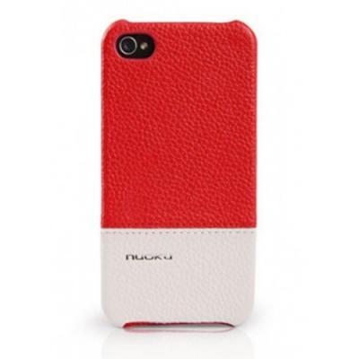Кожаный чехол Nuoku для iPhone 4/4S Royal Luxury Leather Cover Красный