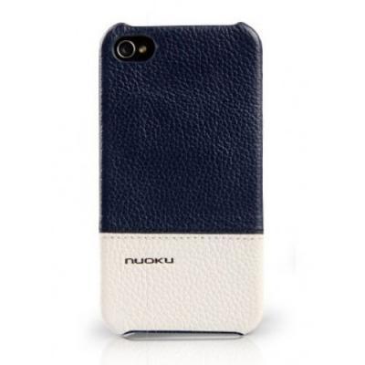 Кожаный чехол Nuoku для iPhone 4/4S Royal Luxury Leather Cover Синий