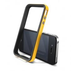 Бампер для iPhone 4/4S SGP Neo Hybrid EX Черный/Желтый