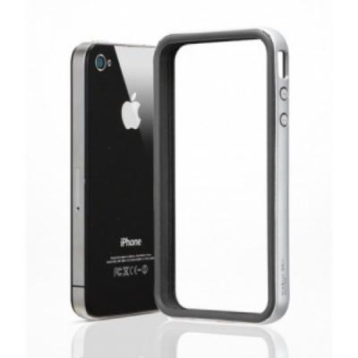 Бампер для iPhone 4/4S SGP Neo Hybrid EX Черный/Серебристый
