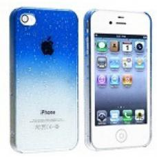 Чехол для iPhone 4/4s Капли воды Синий