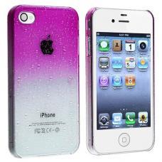 Чехол для iPhone 4/4s Капли воды Фиолетовый