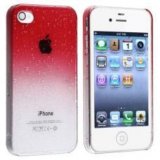 Чехол для iPhone 4/4s Капли воды Красный