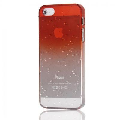 Чехол для iPhone 4/4s Капли воды Оранжевый