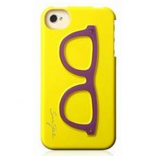 Чехол для iPhone 4/4s Очки Желтый