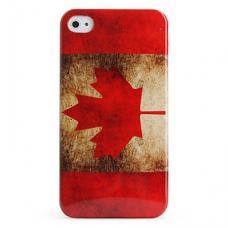 Чехол для iPhone 4/4s Флаг Канады