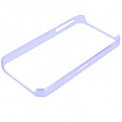 Ультра тонкий бампер для iPhone 4/4S Голубой Прозрачный