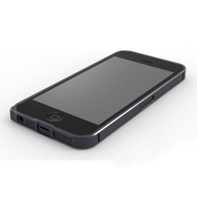 Металлический бампер для iPhone 5/5S Cross 0.7 mm Черный