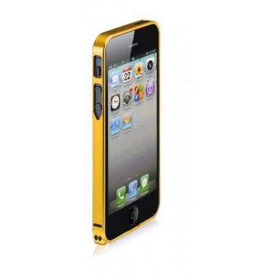 Металлический бампер для iPhone 5/5S Cross 0.7 mm Золотой