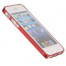 Металлический бампер для iPhone 5/5S Cross 0.7 mm Красный