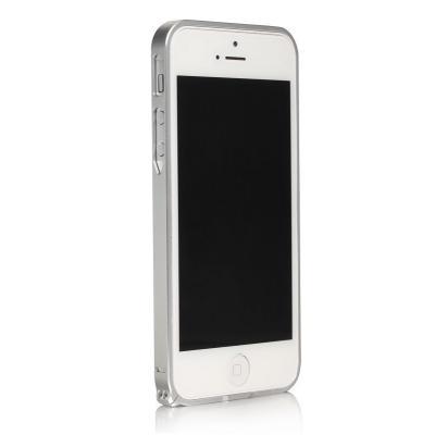 Металлический бампер для iPhone 5/5S Cross 0.7 mm Серебристый