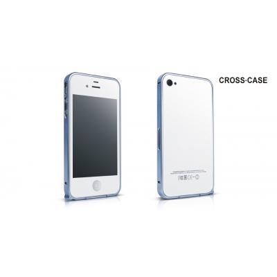Металлический бампер для iPhone 5/5S Cross 0.7 mm Синий
