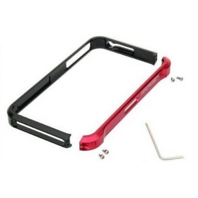 Алюминиевый бампер для iPhone 5/5S Element Case Vapor 5 Чёрный/Красный