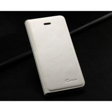 Кожаный Флип-чехол для iPhone 5/5S Guoer Белый