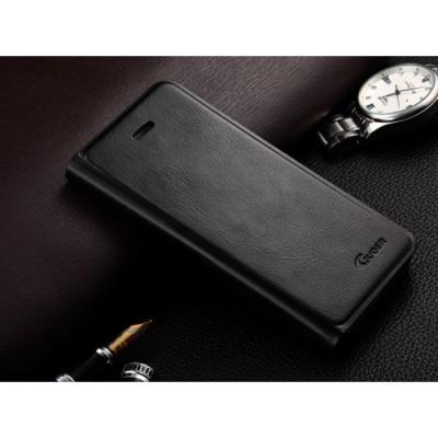 Кожаный flip-чехол для iPhone 5/5S Guoer Черный