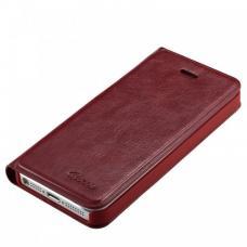 Кожаный Флип-чехол для iPhone 5/5S Guoer Коричневый