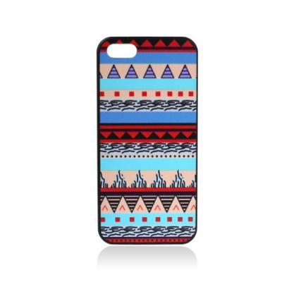 Этнический Чехол для iPhone 5 Голубые полосы