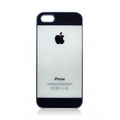 Накладка для iPhone 5/5S имитация задней крышки (черная)